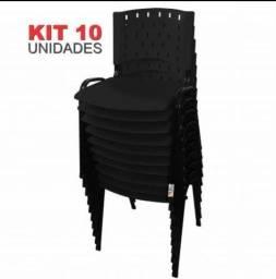 Kit 10 cadeiras compacta