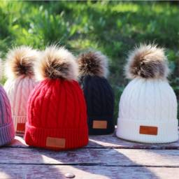 Chapéus de algodão de malha infantis, chapéus quentes e confortáveis de algodão