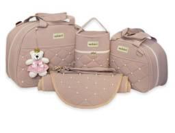 Kit Bolsa de Maternidade 4 Peças Pérola Material Térmico Impermeável 5.0