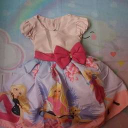 Vestido Barbie Vários Tamanhos