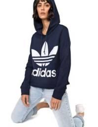 Moletom Fechado Adidas Originals Trefoil Hood Azul-Marinho (Novo)