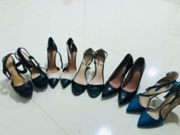Sapatos femininos -  5 pares (36)
