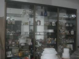 estante mdf com prateleira de vidro