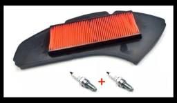 Kit Filtro De Ar + 2x Vela De Ignição Yamaha Nmax 160