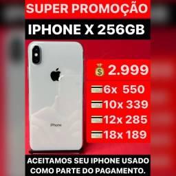 iPhone X 256gb, aceitamos seu iPhone usado como parte do pagamento