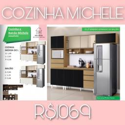 Armário de cozinha michelle armário michelle de cozinha 009876