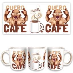 """Caneca em cerâmica personalizada """"quero café!""""- canecas personalizadas pinhais e curitiba"""