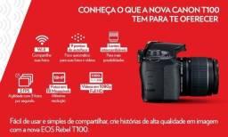 Câmera Digital Canon EOS Rebel T100 (Profissional) Full HD - NOVA