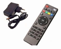 01 Controle Remoto Tv BOX + 01 Fonte 5v 2A