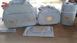 Kit bolsa maternidade 4 peças azul novo