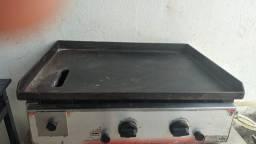 balcão refrigerador e chapa de assar eletrica