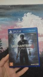 Título do anúncio: Uncharted 4 PS4 - semi novo ( mídia física )