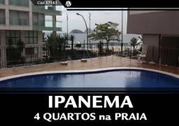 4 Qtos em frente a Praia de Ipanema - Cond com Infra