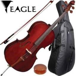 Cello Eagle Ce200 4/4 Com Bag - Promoção