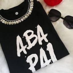 T shirts feminina bordadas