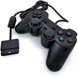 Controle Analógico Compatível com Ps2 e PS1Com Fio -