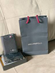 Carteira em couro legítimo William Polo