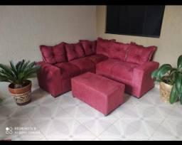 novidade e promoção  sofá de canto com puff