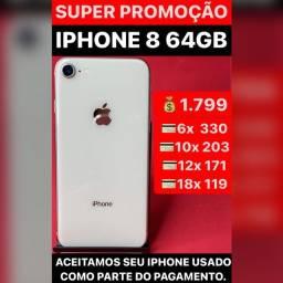 iPhone 8 64gb, aceitamos seu iPhone usado como parte do pagamento, somos loja.