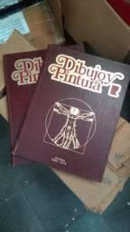 Título do anúncio: Curso desenho e pintura capa dura em 2 livros