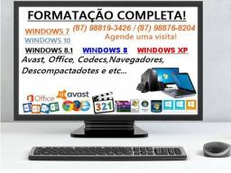 Formatação em Geral (Computadores, Notebooks, Ultrabooks.