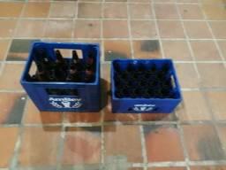 Engradado cascos vasilhame cerveja