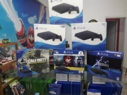 PS4 slim 1TB. Venha visitar nossa loja