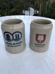 2 Canecas Antigas Alemã Chopp Cerveja Colecionador Porcelana
