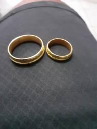 Vendo alianças de prata 925 banhadas a ouro