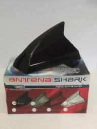 Antena Tubarão Shark Receptiva Preto - Antico