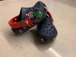 Crocs original avengers tamanho 25 brasil