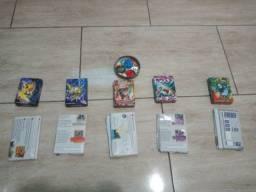 5 packs de cartas de pokémon (leia a descrição)