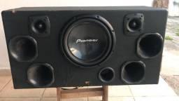 Caixa de som +potência hurricane h1 480.4, usado comprar usado  Campos do Jordão