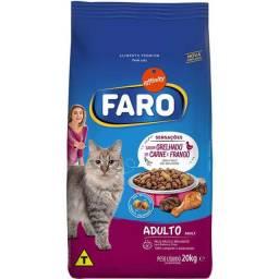 Ração Faro Gato Adulto 20kg Grelhado de Carne e Frango(PROMOÇÃO)