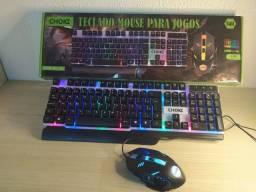 Teclado e Mouse Gamer / Frete Grátis - (Chama no Chat)