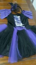 Vestido bruxa 8 anos