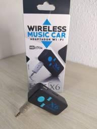 Áudio - adaptador Bluetooth c/ leitor de cartão SD