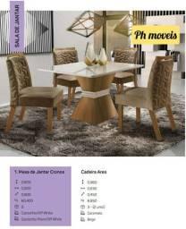 Mesa com 4 cadeiras cronos * *