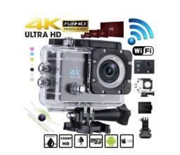 Câmera de Ação 4k + Boia Flutuadora + Carregador + Bateria Extra