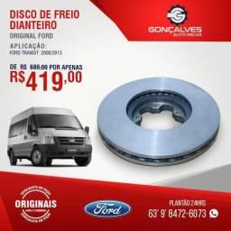 DISCO DE FREIO DIANTEIRO ORIGINAL FORD TRANSIT