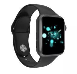 Iwo t5 mais  relógio inteligente smartwatch faz e recebe chamadas