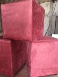 Puff tradicional quadrado - r$ 44,99 - diversas cores - pronta entrega!