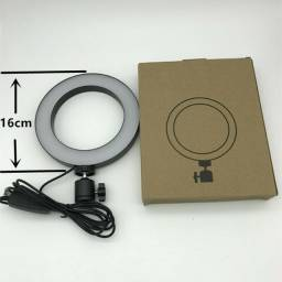 Iluminador Ring Light Usb Led Misto 3200k 5600k Com Tripe