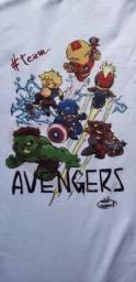 Camisa Vingadores Em Desenho, Pronta Entrega,arte Própria!