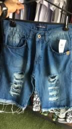 Bermudas jeans e dri-fit