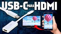 Conversor tipo C ou V8 p/hdmi ligar celular na tv hdmi novo na caixa ac.cartões