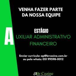 Vaga de Estagio Auxiliar Administrativo Financeiro