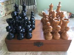 Jogo de xadrez de 1944 - uma raridade para colecionador