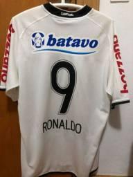 Camisa Corinthians 2009-2011 Ronaldo e Roberto Carlos Autografradas