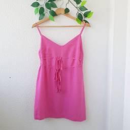 Vestido curto rosa pink - P
